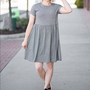 Listicle (Name on Tag) Striped Babydoll Dress